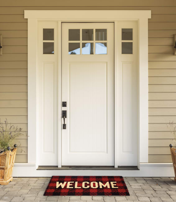 Buffalo Check Welcome Doormat