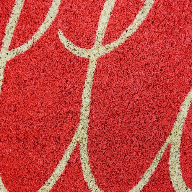 Coral Hello Doormat