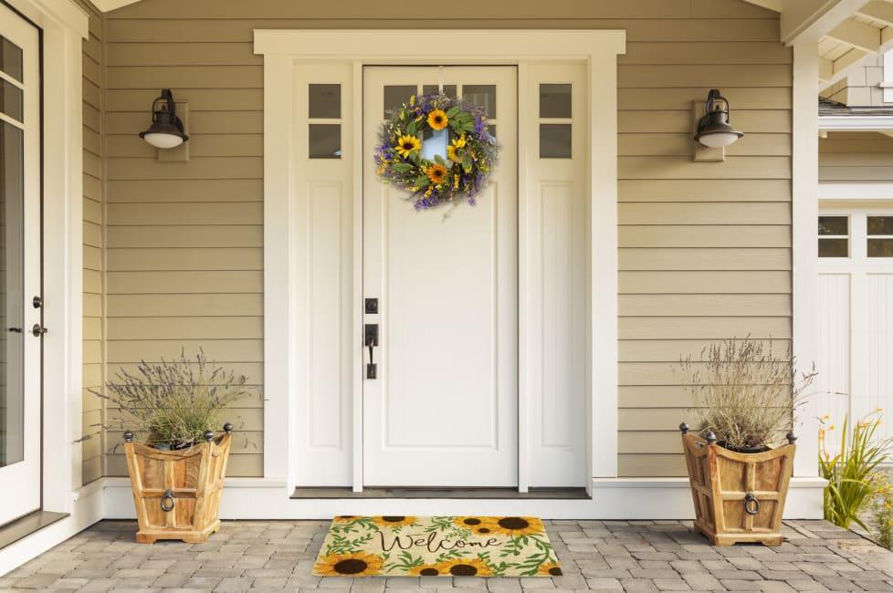 Sunflower Welcome Doormat