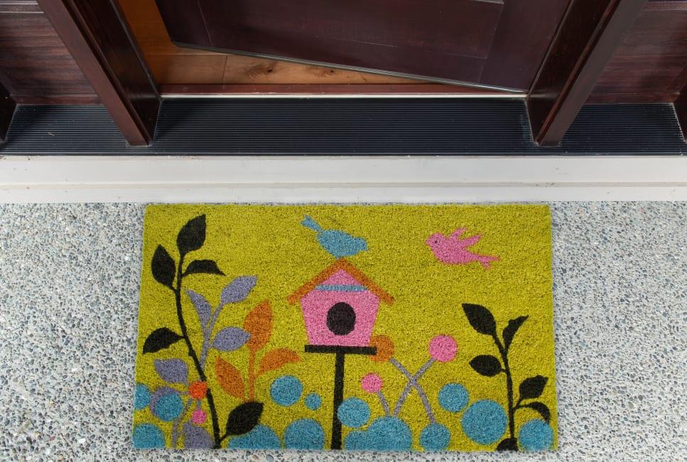 J&M Birdhouse Vinyl Back Coir Doormat 18x30