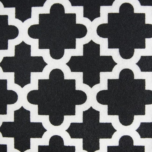 Black Lattice Fridge Liner (Set of 6)