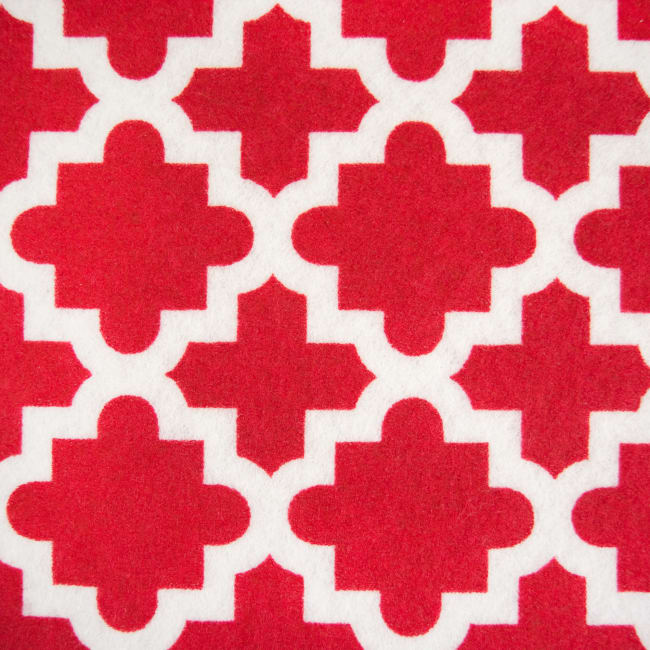 Tango Red Lattice Shelf Liner (Set of 2)