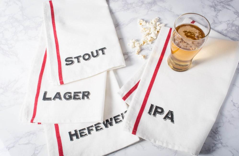 Assorted Beer Pub Print Dishtowel (Set of 4)