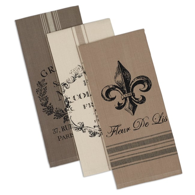 Assorted French Printed Dishtowel (Set of 3)