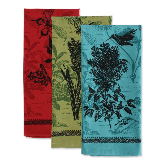Botanical Print Kitchen Textiles, 18x28