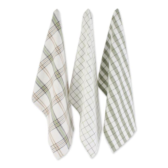 Fresh Herbs Kitchen Textiles, Dishtowels & Dishcloths, Green House, 6 Pieces