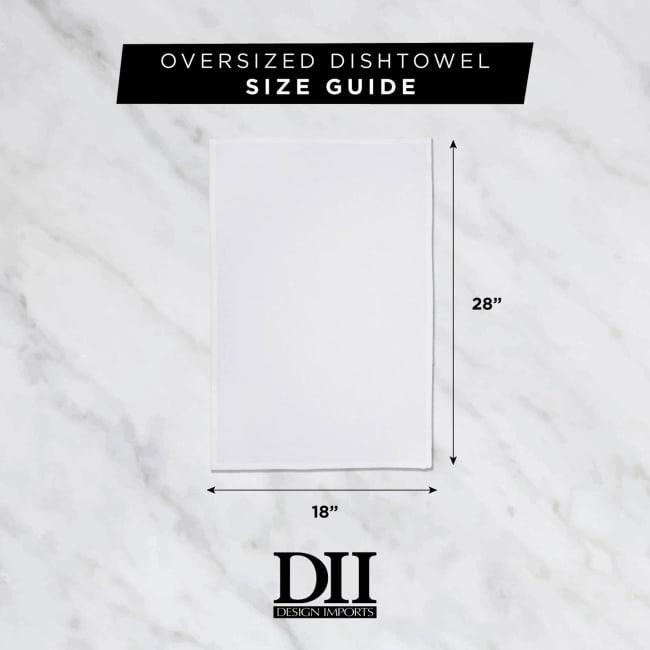 Gray Flat Woven Dishtowels (Set of 6)