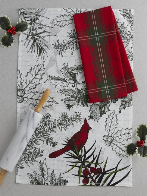 Holiday Botanical Dishtowel (Set of 2)