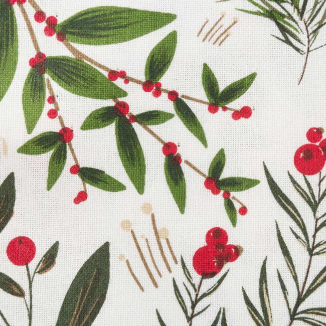 Holiday Sprigs Printed Dishtowel (Set of 2)