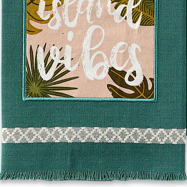 Island Tropics Embellished Dishtowels Set/3
