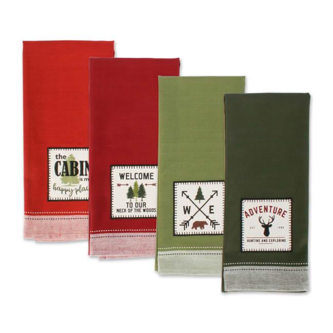 Mountain Trail Plaid Kitchen Towels, Set of 4