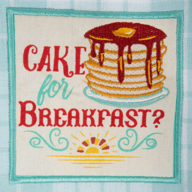 Rise & Shine Breakfast Embroidered Dishtowel (Set of 3)