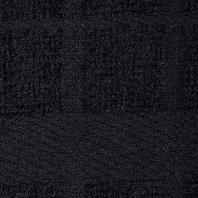 Solid Black Windowpane Terry Dishtowel (Set of 4)