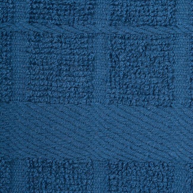 Solid Blue Windowpane Terry Dishtowel (Set of 4)