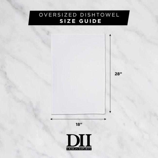 Washed Waffle Woven Dishtowel Set, 18x28