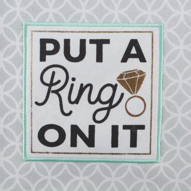 Wedding Themed Embellished Dishtowel (Set of 4)
