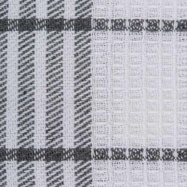 J&M Gray Waffle Weave Dishtowel (Set of 6)