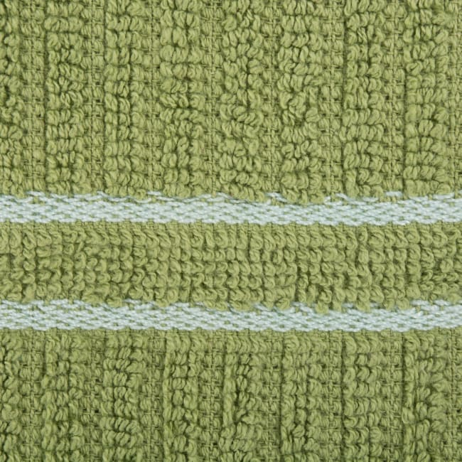 J&M Green Ribbed Terry Dishcloth (Set of 12)