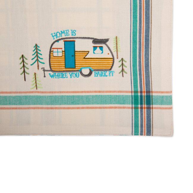 Assorted Camper Embellished Placemat (Set of 4)