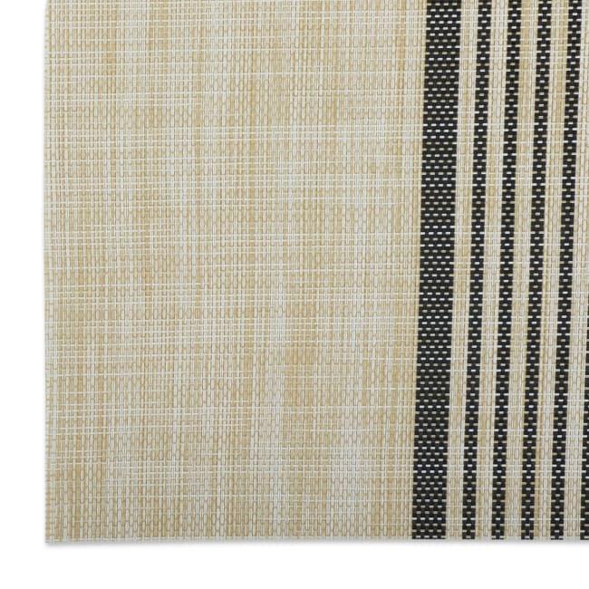 Black Middle Stripe PVC Woven Placemat