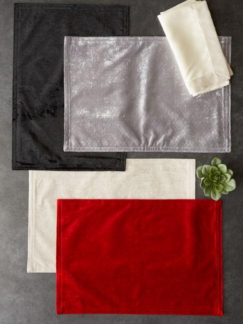 Cream Velvet Placemat (Set of 4)