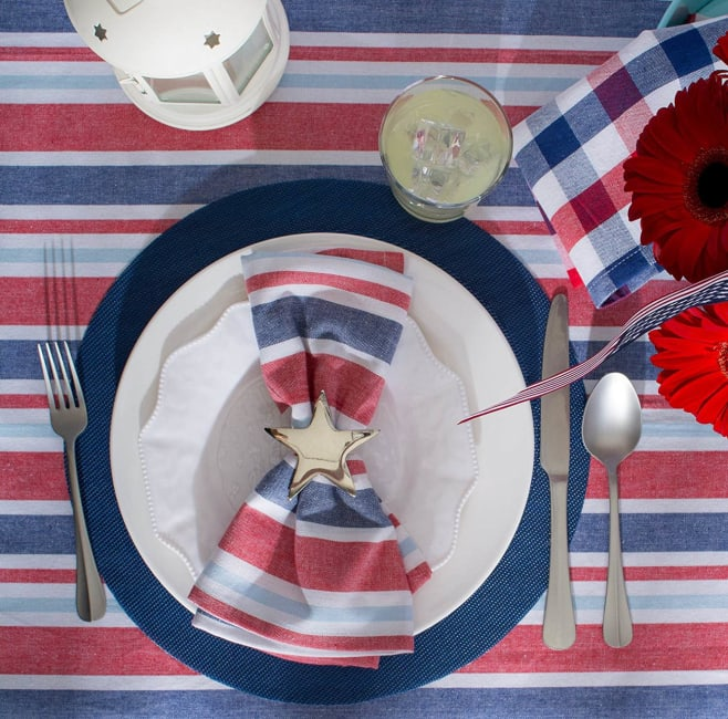 Nautical Blue Round Pvc Doubleframe Placemat (Set of 6)
