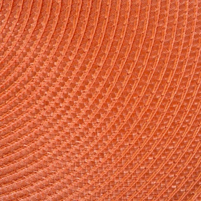 Orange Round Polypropylene Woven Placemat (Set of 6)