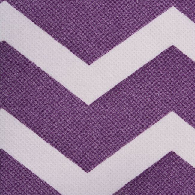 Nonwoven Polyester Cube Chevron Eggplant Square 11x11x11 Set/2