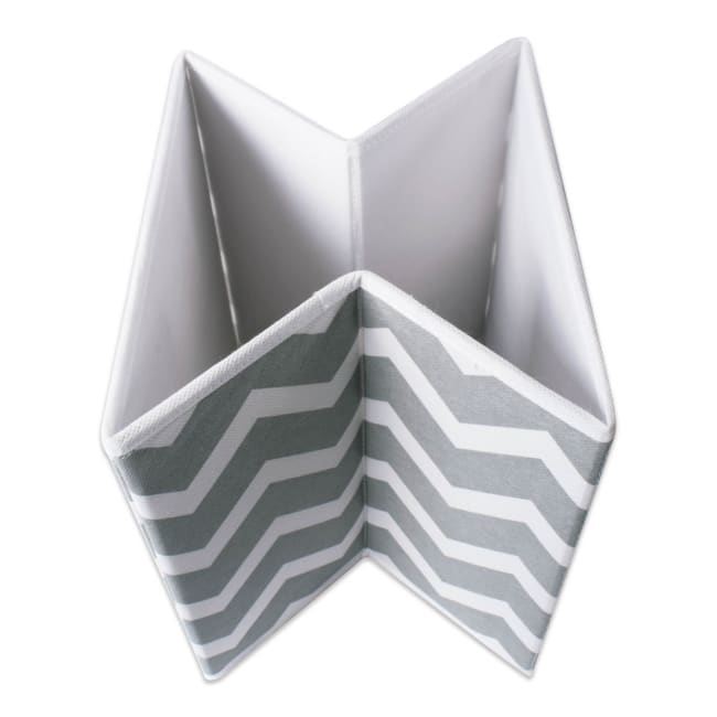 Nonwoven Polyester Cube Chevron Gray Square 11x11x11 Set/2