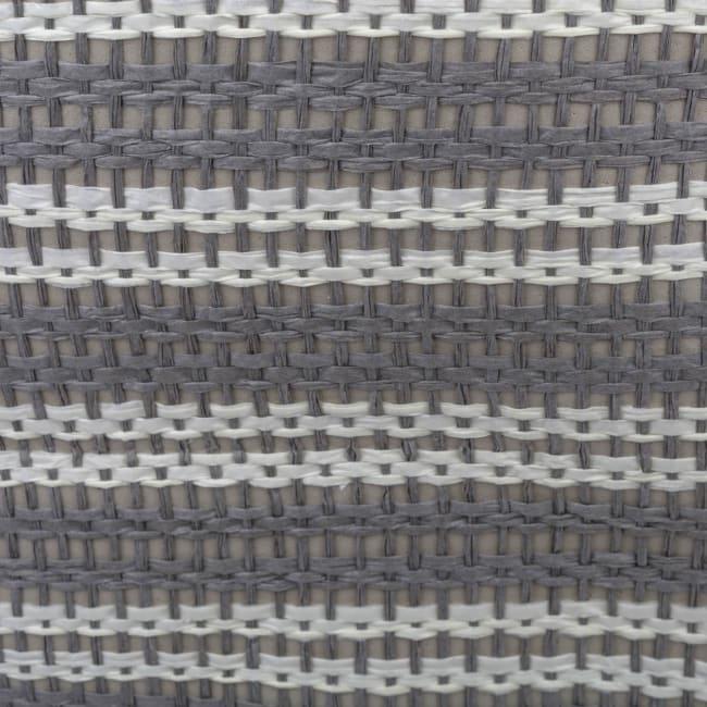 Paper Storage Bin Basketweave Gray/White Rectangle Large 17x12x12
