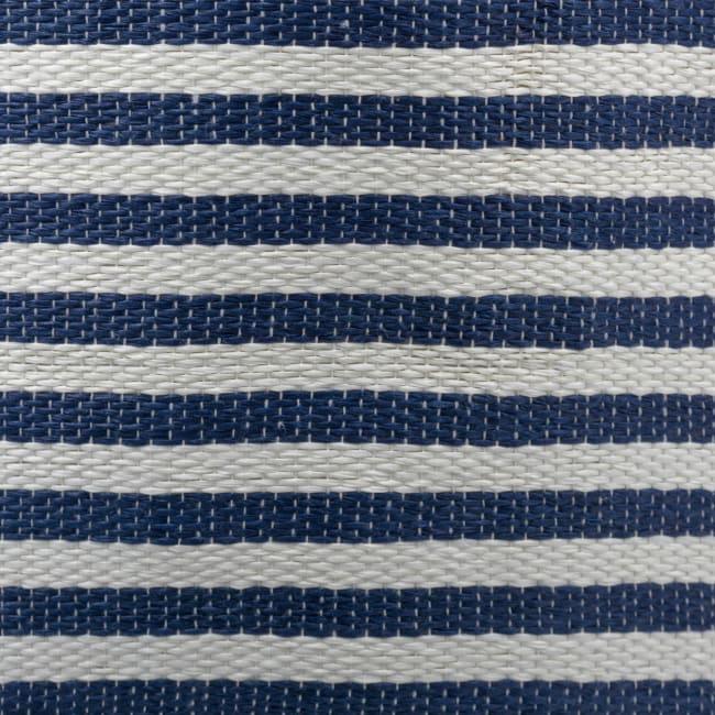 Paper Storage Bin Pinstripe Nautical Blue Rectangle Medium 15x10x12