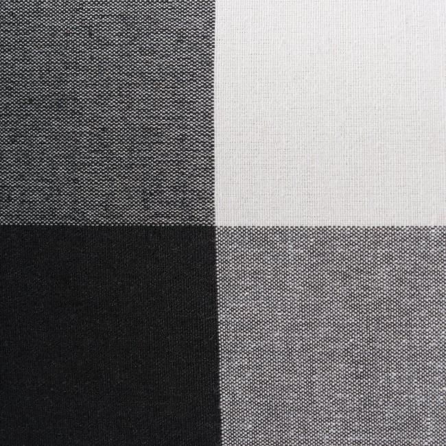 Polyester Storage Bin Buffalo Check White/Black Round Large 15x16x16