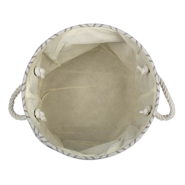 Polyester Storage Bin Ikat Stone Round Large 15x16x16