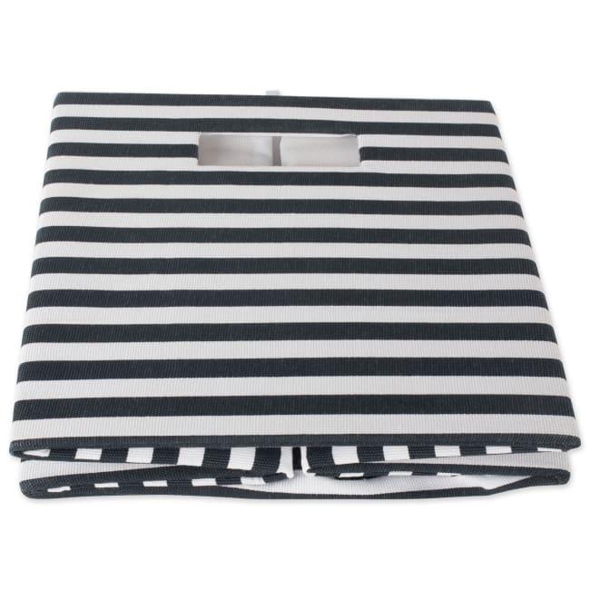 Polyester Cube Pinstripe Black Square 11x11x11