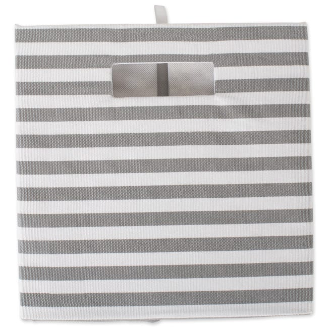 Polyester Cube Pinstripe Gray Square 11x11x11