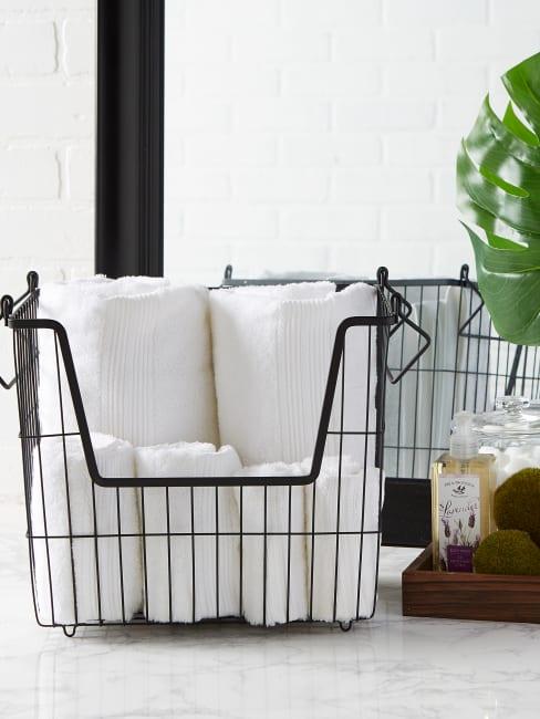 Black Rectangle Metal Basket Large 13x10x11