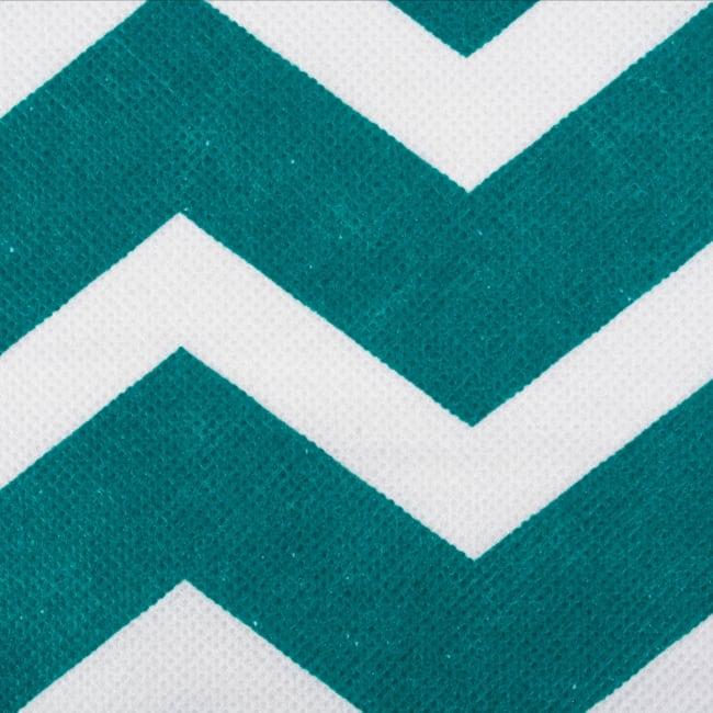 Nonwoven Polyester Cube Chevron Teal Square 11x11x11 Set/2