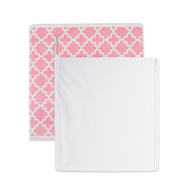 Nonwoven Polyester Cube Lattice Pink Sorbet Square 11x11x11 Set/4