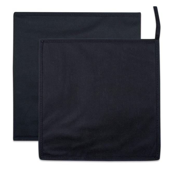 Nonwoven PP Cube Solid Black Square 11x11x11 Set/2