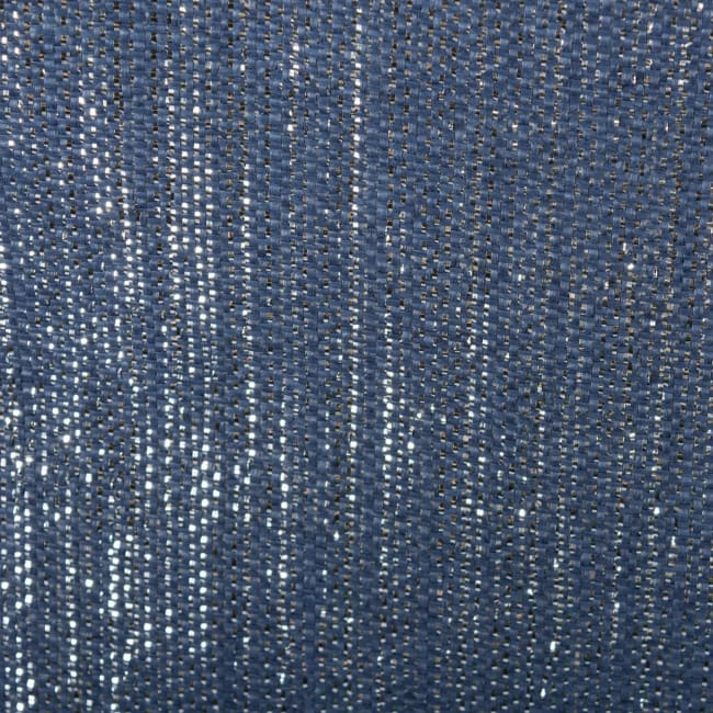 Paper Storage Bin Lurex Nautical Blue/Silver Square 11x11x11