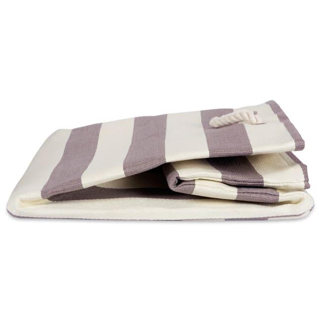 Paper Cube Stripe Gray Square 16x16x16