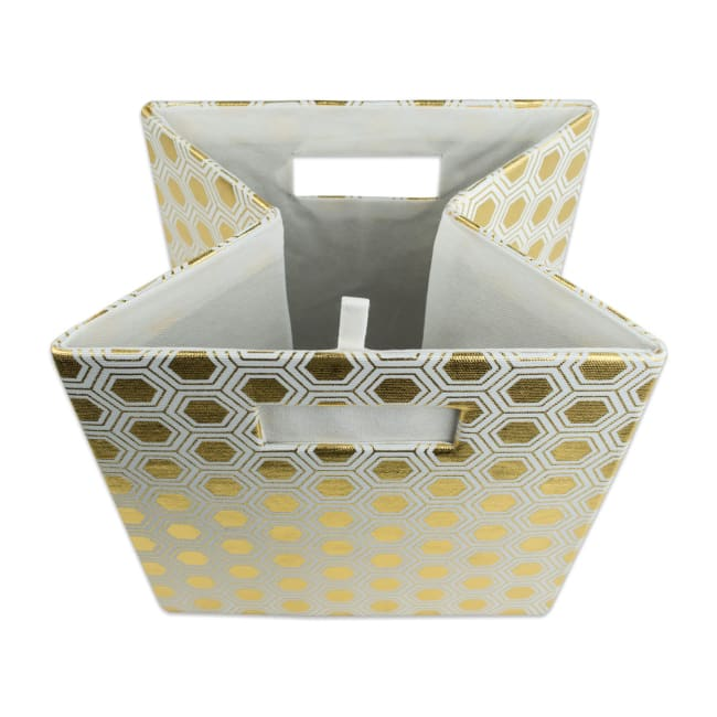 Polyester Cube Honeycomb Gold Square 11x11x11
