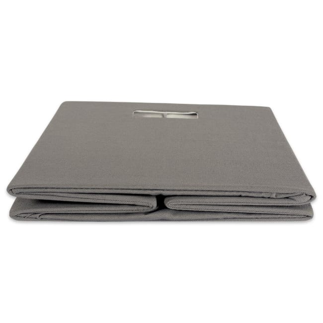 Polyester Cube Solid Gray Square 11x11x11