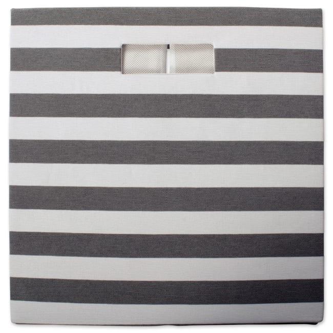 Polyester Cube Stripe Gray Square 11x11x11