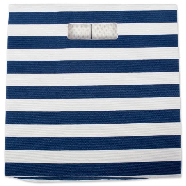 Polyester Cube Stripe Nautical Blue Square 11x11x11