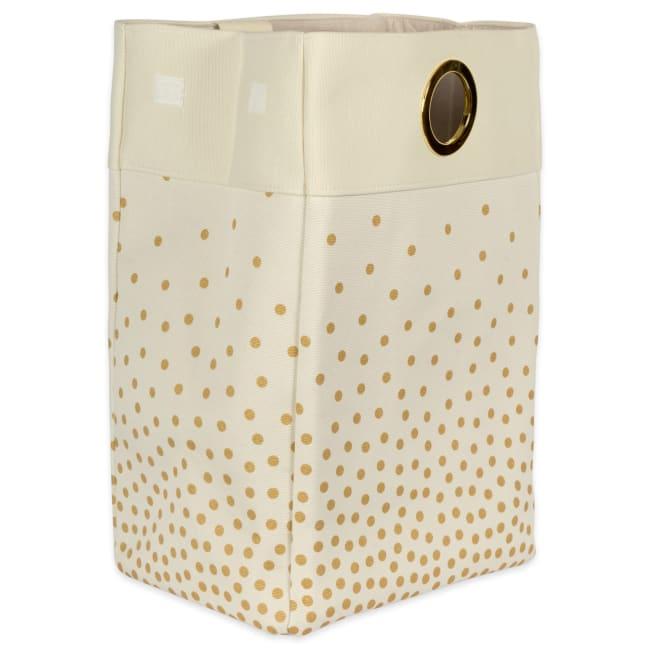 Canvas Single Strap Laundry Bag Confetti Gold 14x10x22