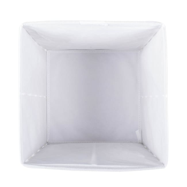 Nonwoven Polyester Cube Chevron Gray Square 11x11x11 Set/4