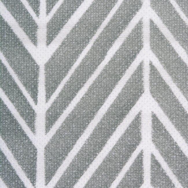 Nonwoven Polyester Cube Herringbone Gray Square 13x13x13 Set/2
