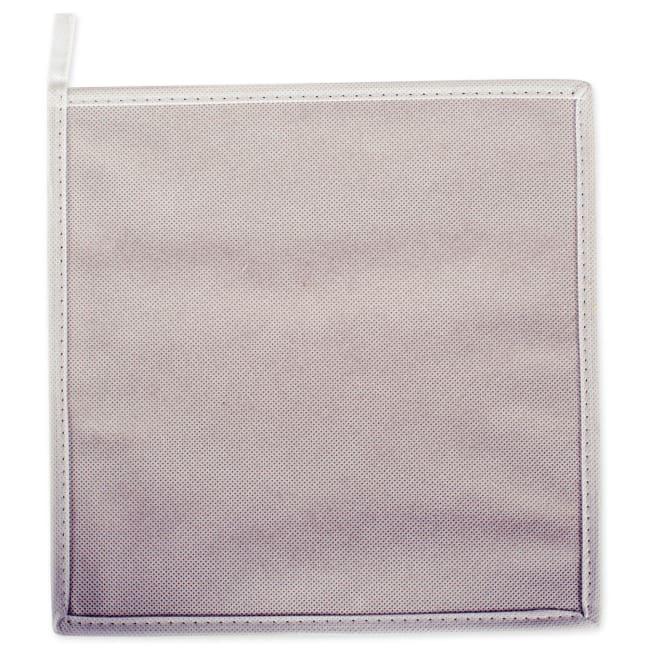Nonwoven Polyester Cube Stripe White/Gold Square 11x11x11 Set/2