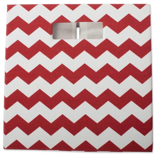 Polyester Cube Chevron Rust Square 13x13x13